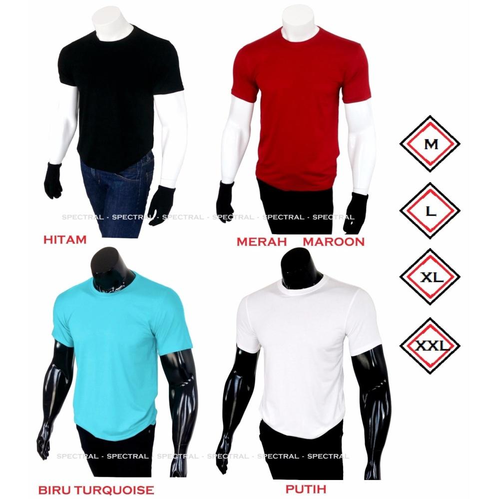 Perbandingan Harga Spectral Kaos Polos Katun Rayon Viscose Slim Pria Kartun Fit Oblong O Neck Baju Fashion Atasan