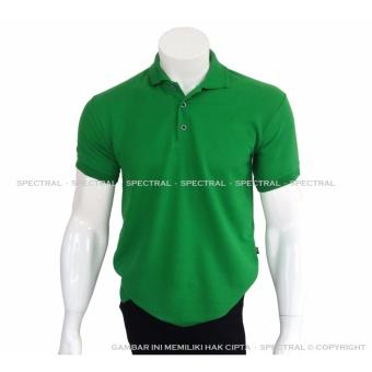 Spectral - Polo Shirt Polos M L XL Lengan Pendek Kaos Kerah Pakaian Berkerah Atasan Pria Wanita Cewe Cowo Lacos Pique Lacost Fashion Simple Keren Simpel Formal Casual Korean Bagus Murah - Hijau Green Emerald - 2
