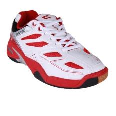 Spotec Back Court Sepatu Badminton - Putih/Merah