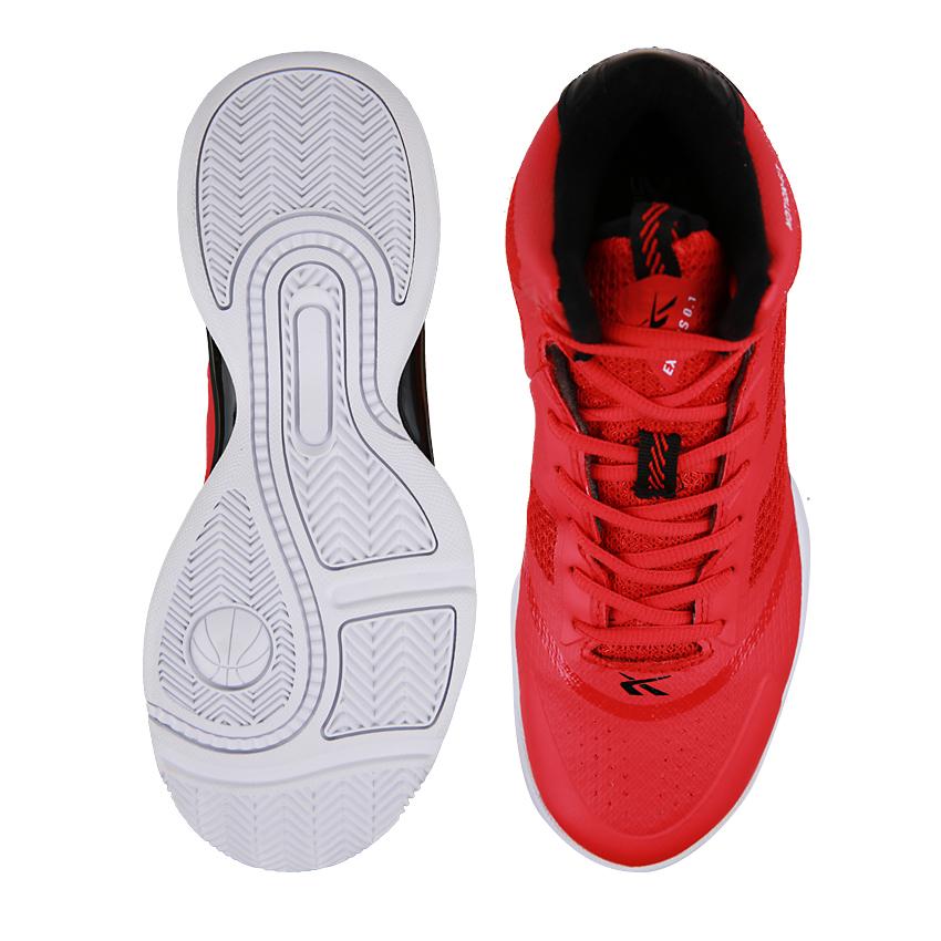 Spotec Exodus Sepatu Basket Merah Hitam .