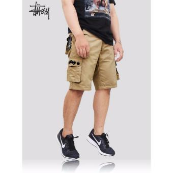 Foto Produk Stussy Celana Cargo Pendek Premium Khaki Selengkapnya