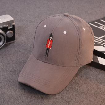 Daftar Harga Suede Macaron warna melengkung topi topi (Kartun atap  melengkung-abu-abu 993124449b