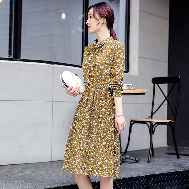 Suihua Korea Fashion Style musim semi dan musim gugur kecil yard besar bottoming rok lengan panjang