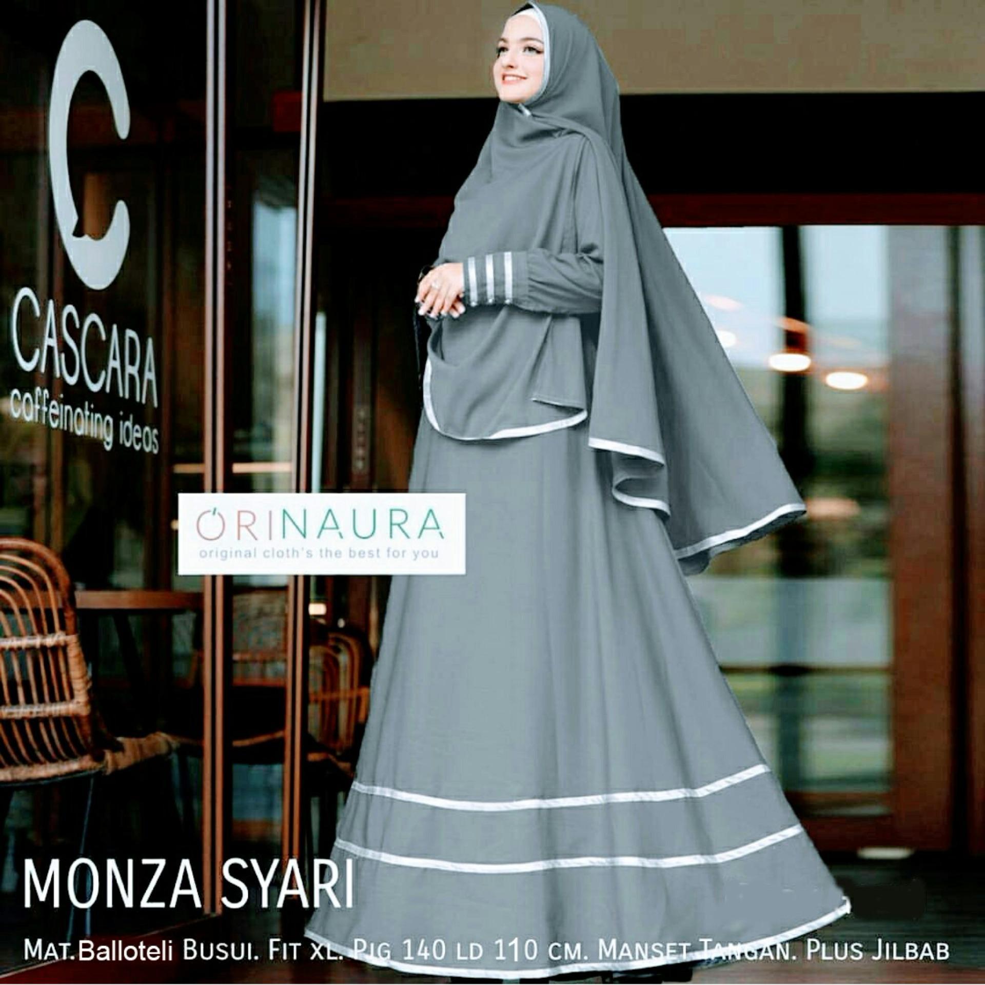 Penawaran Gamis Putih Cantik Umroh Long Dress White Muslimah Xl