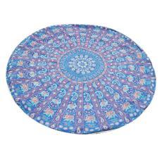 Summer Beach Towels Bohemian Style Dicetak Tassels Round Selimut-Intl