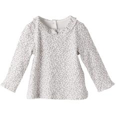 Sunroo manis kapas perempuan musim semi dan musim gugur model putri bottoming kemeja t-shirt