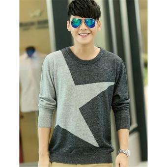 Sweater Pria Rajut - Big Star Grey - Rajut Tribal
