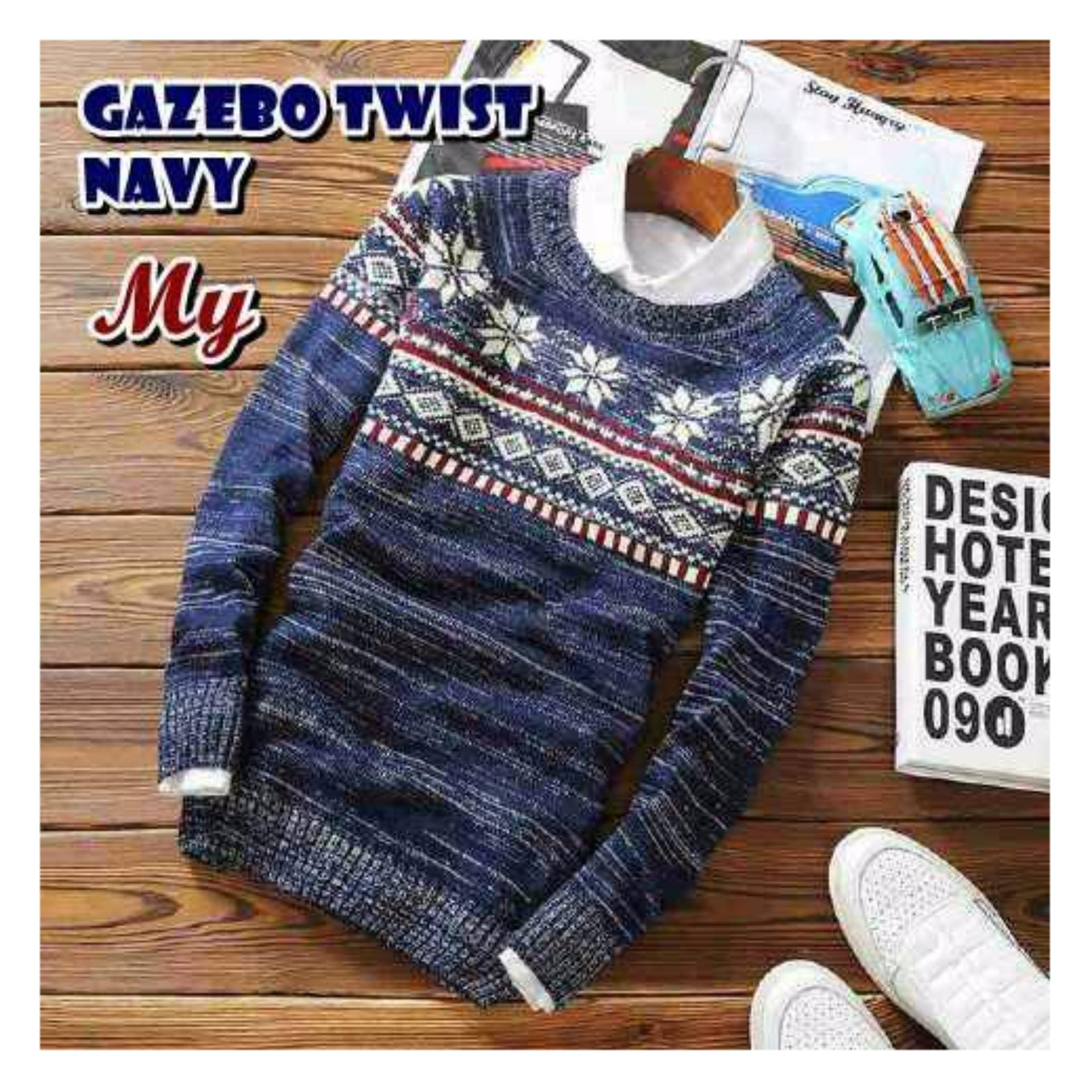 Hemat Sweater Pria Rajut Labirin Maroon Tribal Toko Azuma Navy Kemiripan 90 Gazebo Trendy