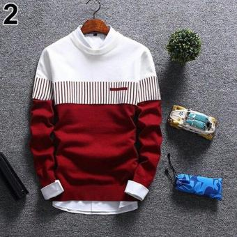 sweater rajut pria -ZICO SWEATER RED-rajut tribal