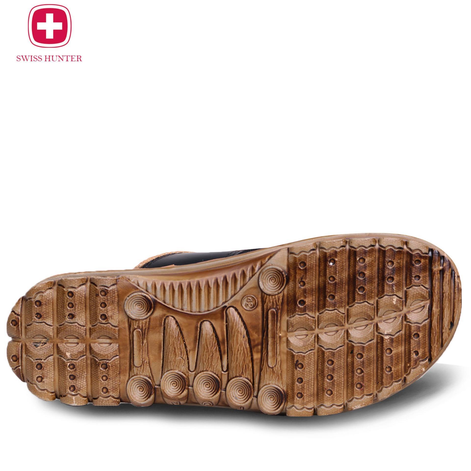 ... Swiss hunter tactical sandal pria Dark Brown