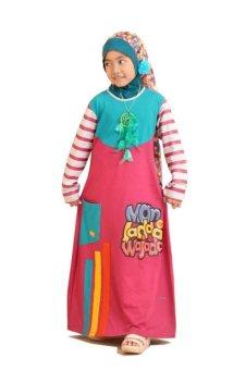Syamsakids Baju Muslim Anak Sl074 Gms Mjwj Magenta