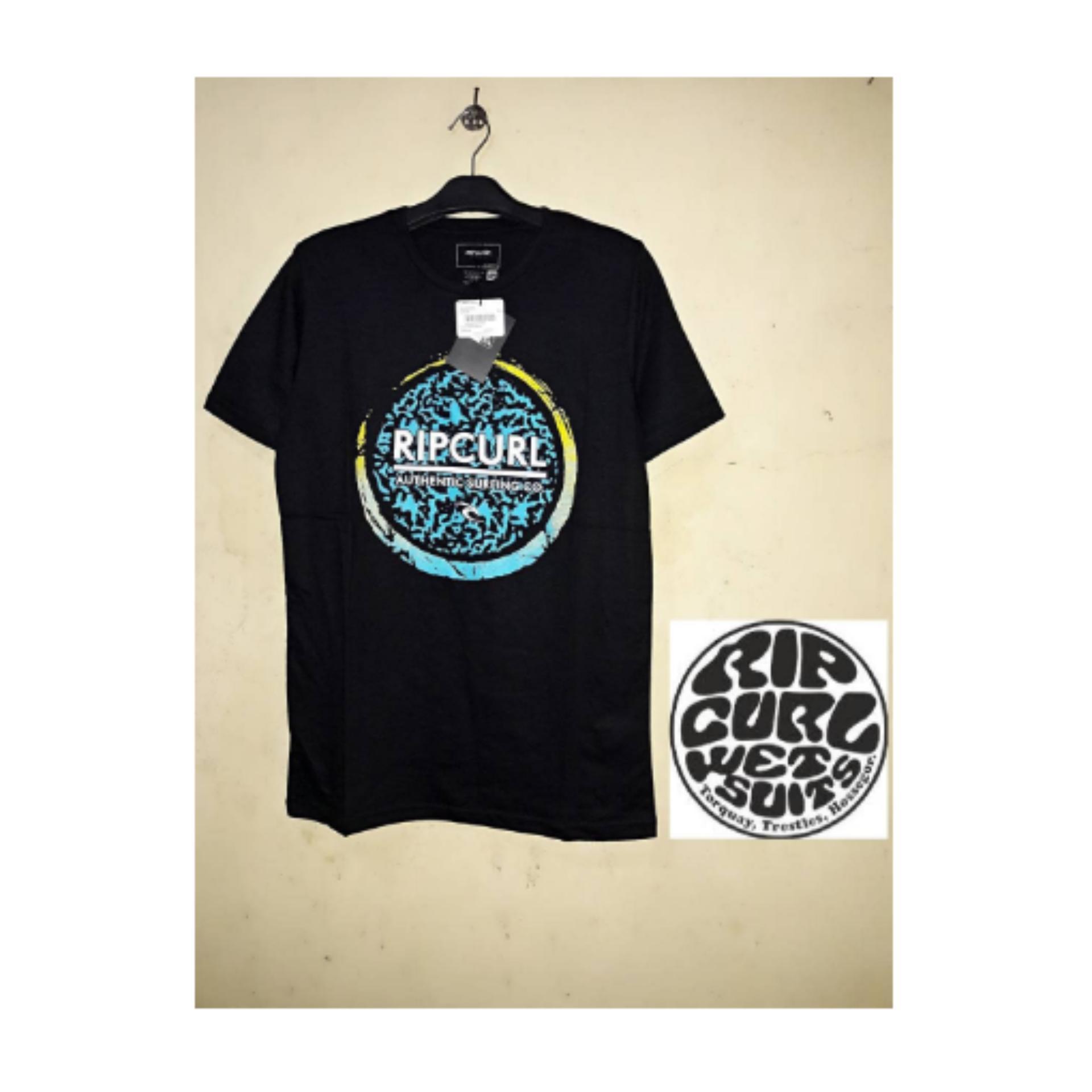 Anggaran Terbaik T Shirt Kaos Distro Ripcurl Black Harga Penawaran