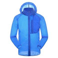 Tahan Air Jaket Summer Ultralight Outdoor Camping Tourism Hiking Jacket Coat .