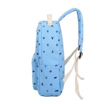 ... Tas Backpack Motif Bahan Kanvas 4 in 1 - Tas Ransel Kanvas DompetKanvas Tas Selempang Kanvas ...