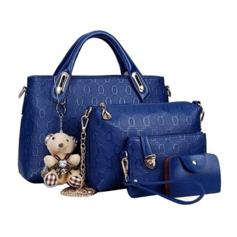 Tas Fashion - High Quality Korean Style 4in1 - Biru