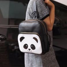 Tas Fashion Wanita - Trendy White Panda Backpack 25x28x9cm Kulit Sintetis