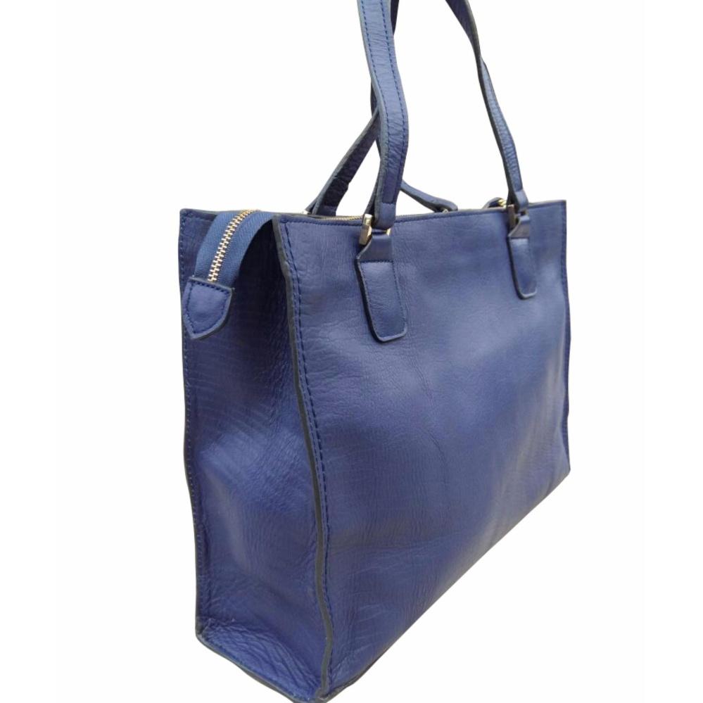 Tas Kulit Asli Wanita Biru Electric Women Bag Genuine Leather Blue Electric