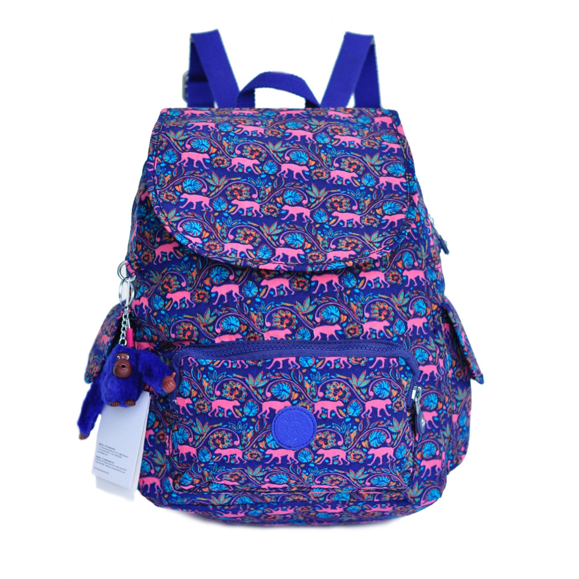 Tas Ransel Wanita Authentic Kipling Backpack City - Biru
