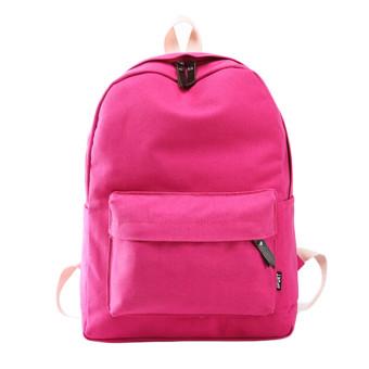 Bag Biru Tua Source Tas sekolah ransel kanvas wanita gadis perjalanan ransel bahu bagHot Pink