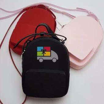 Tas Selempang Wanita / The Water Cube Silicone Daypack Bag (Jelly Bag) Miniso Red