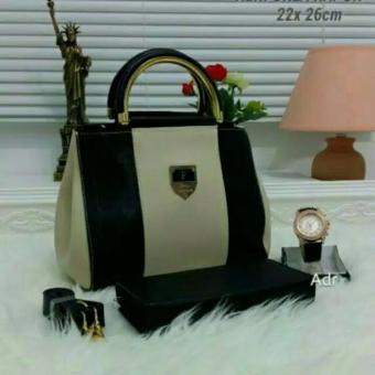 Tas Wanita Paket 3 in 1 - High Quality PU Leather Korea Elegant BagStyle + Wallet