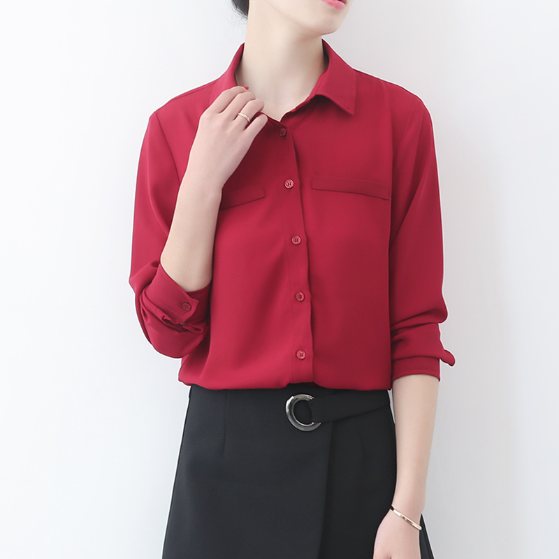 solid v-neck Slim bottoming kemeja t. Source · Teng Xuan .