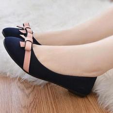 Tezza Korea Flat Shoes [Hitam]
