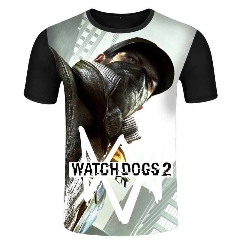Flash Sale Tide merek Watchdog permainan Zhou Bian lengan pendek t-shirt ( Hitam 7
