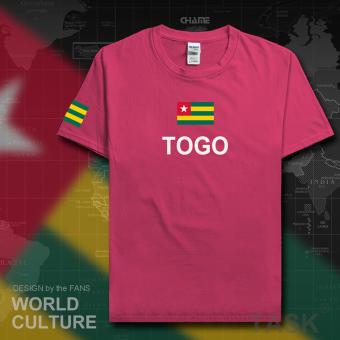 ... Gambar Togo sepak bola laki laki lengan pendek t shirt katun penuh kasih kemeja Lengan