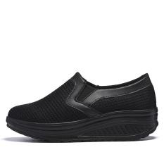 TOMASEN Womens Mesh Sports Tennis Shoes Slip On Wedges Platform Shoes - intl
