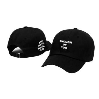 Topi Baseball Anti Social Social Club / Topi Baeball Keren Assc Enough of You Black Premium