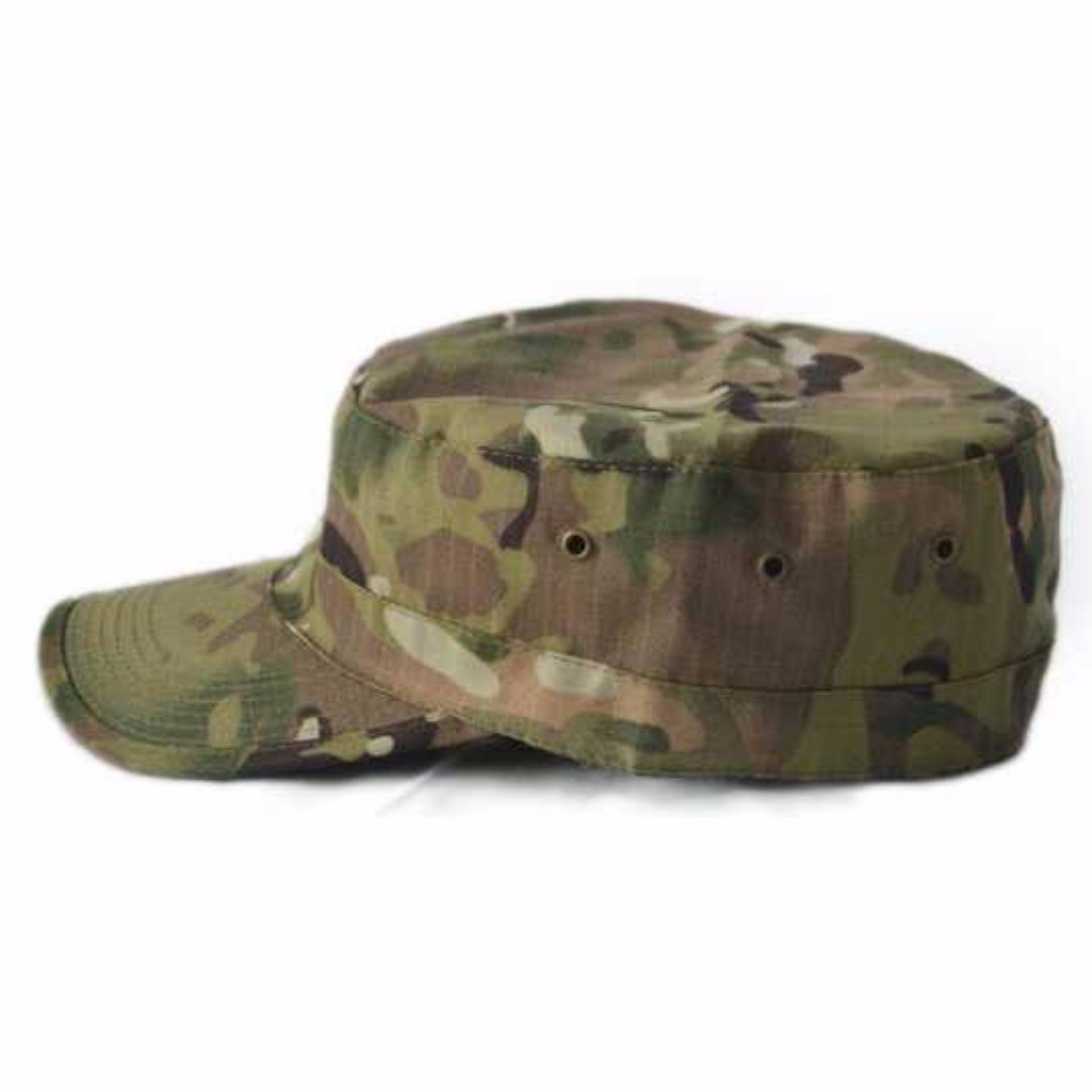Topi Flat Top Pria Ariel Militer Komando Korean Kalibre Hat Newsboy Cap Biru Navy Abu 991186 999 Outdoor Leisure Sport