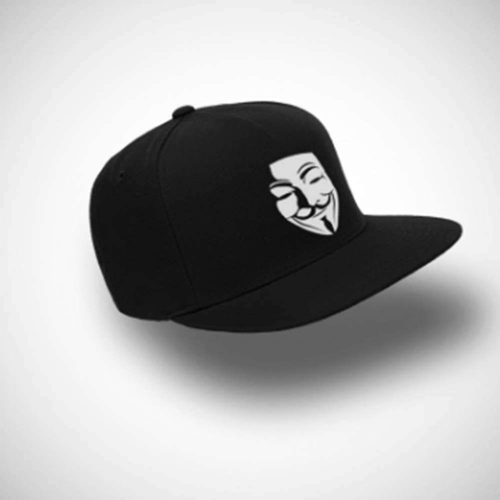 Flash Sale TOPI SNAPBACK Anonymous BLACK PREMIUM