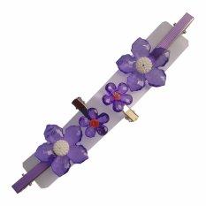 Toylogy Grow Jepit Rambut Motif Bunga Ungu ( Hairpin Purple Flowers ) Isi 2 Pasang