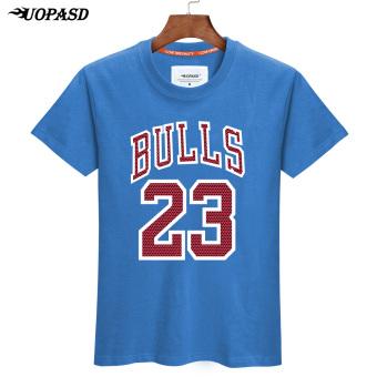 Trapeze laki-laki lengan pendek basket olahraga longgar t-shirt t-shirt (