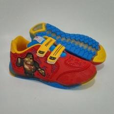 Trekkers KL-I-King Sepatu Anak Lampu Warna Merah / Biru Laut