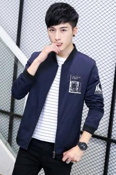 Pencari Harga Tren laki laki mahasiswa jaket musim gugur mantel Biru Bandingkan Toko .