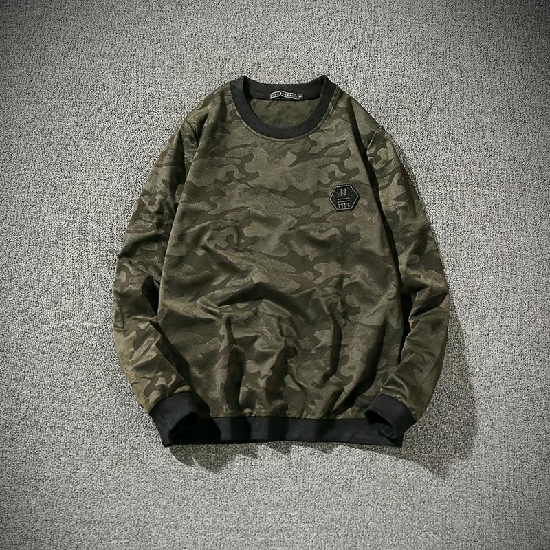Flash Sale Tren Qiuyi baru penuh kasih kemeja t-shirt (Tentara hijau)
