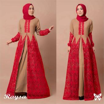 Trend Baju - Maxi Busui Pashmina Uk L - Merah