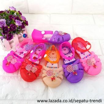 Harga Termurah Trendishoes Sepatu Anak Perempuan Slip On Brokat Source · Trendi Sepatu Sandal Jelly Shoes