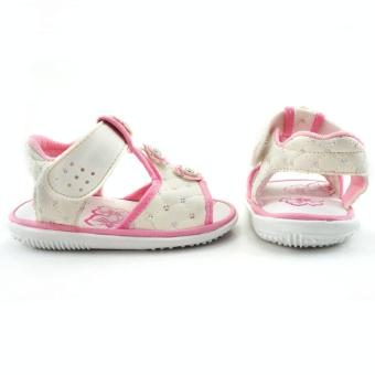 TrendiShoes Sandal Bunyi Anak Perempuan 3 Bunga - Putih - 3 .