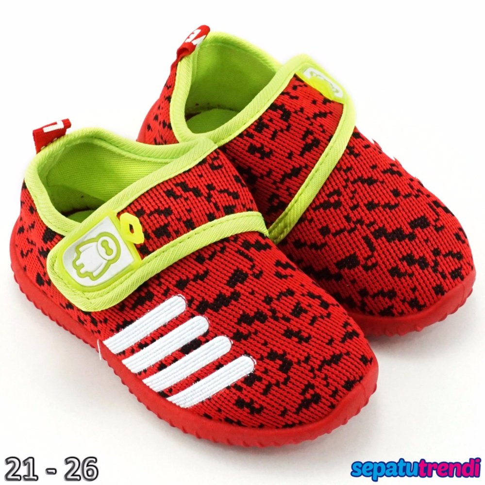Trendishoes Sepatu Anak Bayi Laki Import Motif Rdcbmx Merah Baby Shoes Prewalker Tamagoo Alex Series  0 3 Bulan Cokelat Tua Hijau