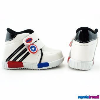TrendiShoes Sepatu Anak Laki-Laki Sport High Cut Semi Boot JBK -Hitam - 3