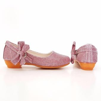 TrendiShoes Sepatu Anak Perempuan Glitter Pita Samping AP013 - Pink - 2