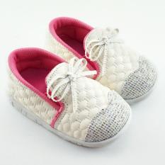 TrendiShoes Sepatu Bunyi Anak Bayi Perempuan Slip On Pita 032AG - Putih