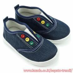 TrendiShoes Sepatu Slip On Anak Bayi Laki-Laki Sol Karet NDA01 - Navy