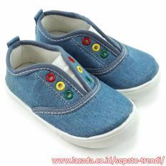 TrendiShoes Sepatu Slip On Anak Bayi Laki-Laki Sol Karet NDA01 - Sky Blue