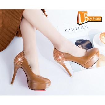 ... Ubuy Fashion Musim Panas Wanita Sepatu Partai Pesta Kencan  TinggiMenunjuk Sepatu Kulit Formal Heavy A- ac10a7b2dd