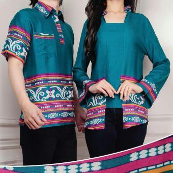UC Gamis Couple Linda | Gamis Batik | Kemeja Couple | Kemeja Muslim Batik Berkualitas [