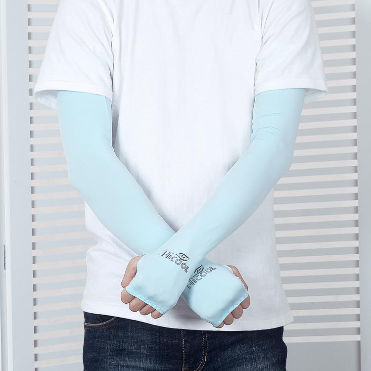 sutra musim panas UV tabir surya manset lengan manset (Merah muda es .